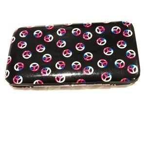 Peace sign wallet